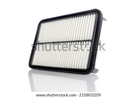 new air filter for car, auto spare part - stock photo
