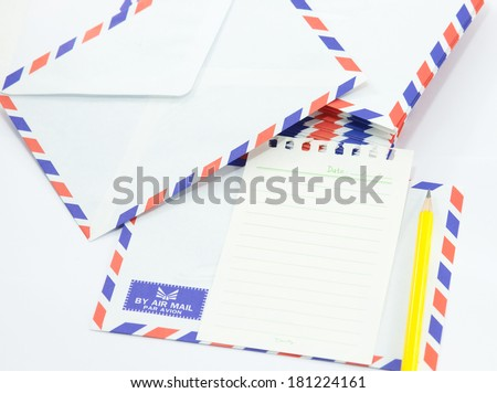 New air mail envelope and paper,pencil