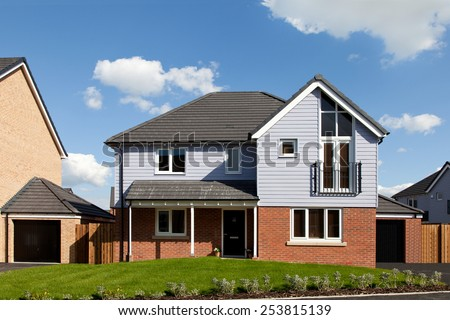 New and modern english detached house - stock photo