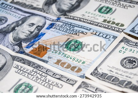new and old 100 american dollar bills as background - stock photo