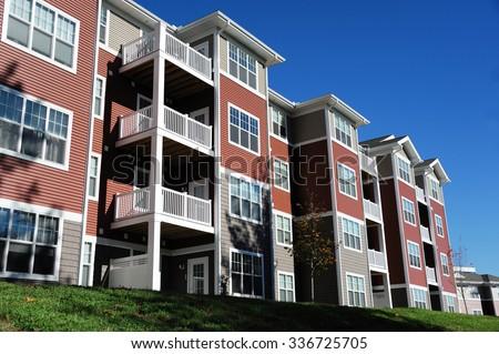 new apartment building - stock photo