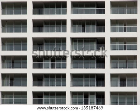 New apartment building facade in Panama City, Panama - stock photo