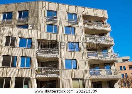 New apartment building in Berlin - stock photo