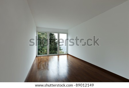 new apartment, empty room with window