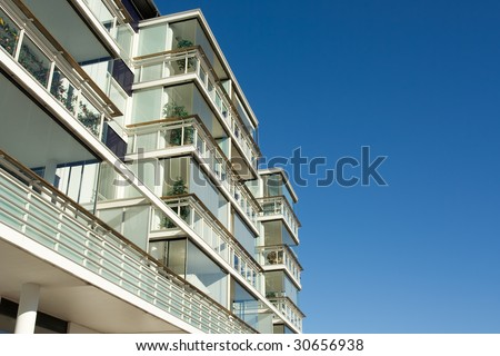 New apartment house - stock photo