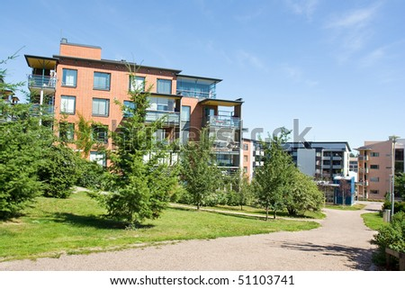 New apartment houses - stock photo