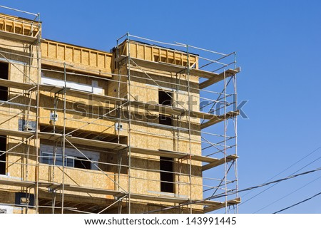 New apartment is under construction. - stock photo