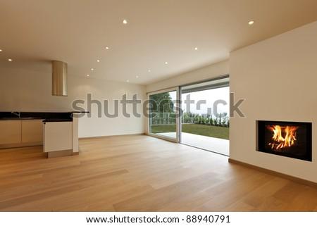 new apartment, kitchen view - stock photo