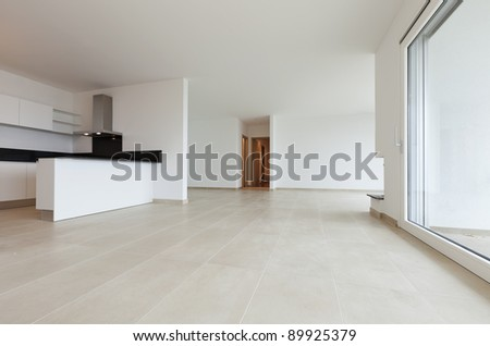 new apartment, kitchen view - stock photo