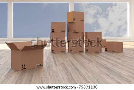 new apartment or office - stock photo