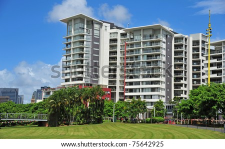 New Apartment units near the park in Brisbane city, Australia