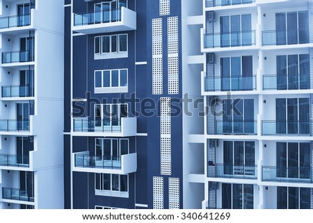 new apartments building - stock photo