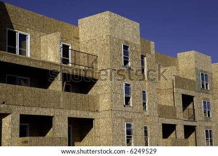 New apartments under construction in Albuquerque, NM. - stock photo