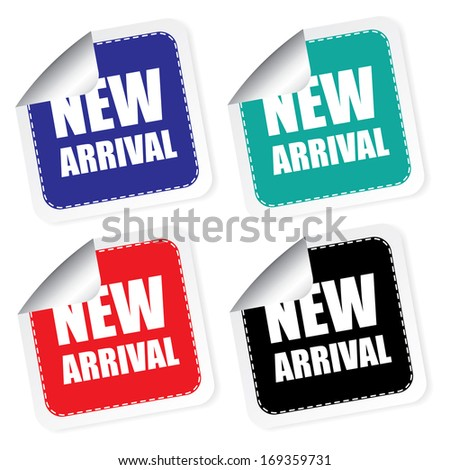 New arrival label, jpg. - stock photo