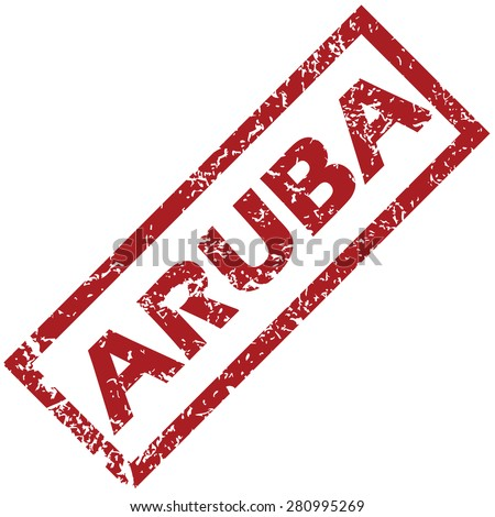 New Aruba grunge rubber stamp on a white background - stock photo