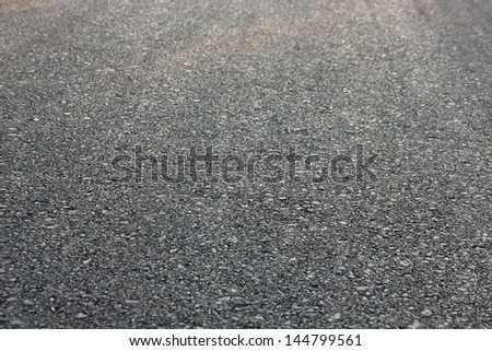 New asphalt road - stock photo