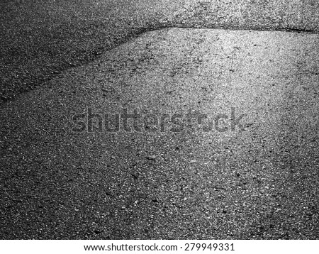 New asphalt road texture with light - stock photo