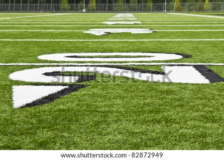 New AstroTurf football and soccer field in summer