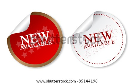 New available stickers - stock photo