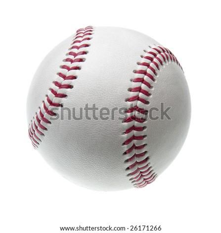 new baseball isolated on white background - stock photo