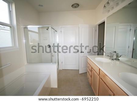 New bathroom construction - stock photo