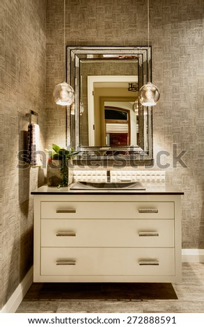 New bathroom in luxury home