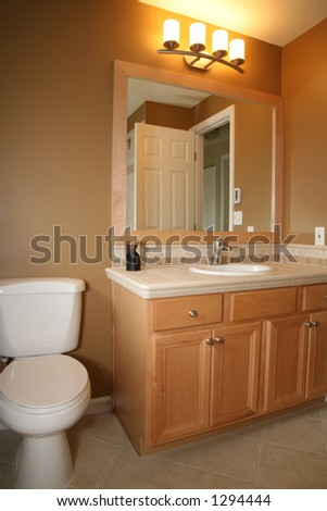 New bathroom remodel - stock photo