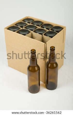 New beer bottles in the box