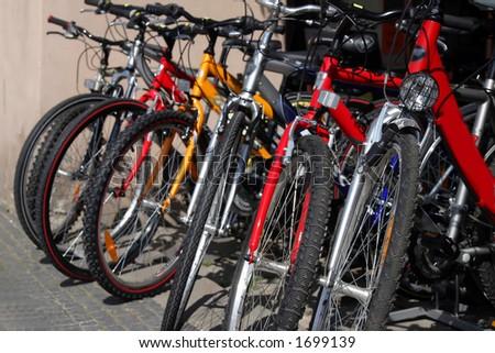New bicycles - stock photo