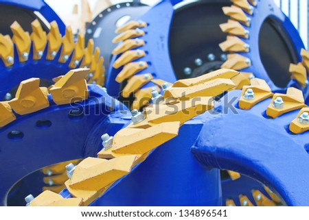 New blades the dredger from stock shipyard - stock photo