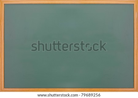 New blank blackboard with wooden frame - stock photo