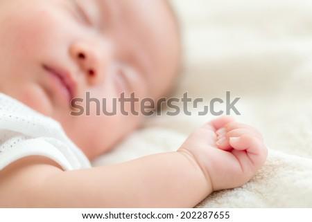 New born baby sleep - stock photo