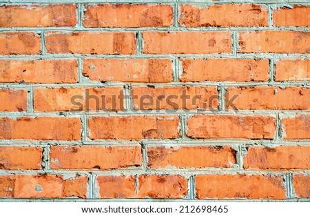 New brick wall - stock photo