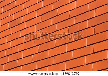 New brick wall surface background texture.