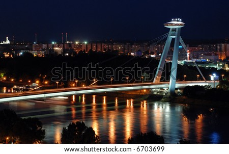 New bridge in Bratislava - stock photo