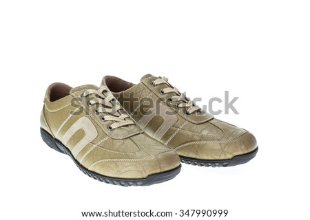 New brown shoe isolated on white background