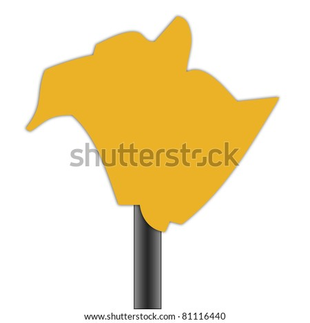 New Brunswick map road sign isolated on a white background. - stock photo