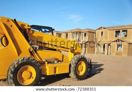 New build home construction - stock photo