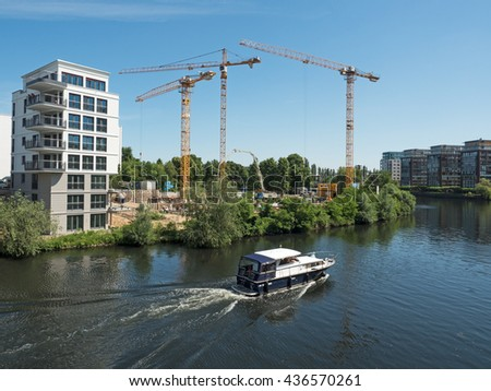 New building at the waterfront  - stock photo