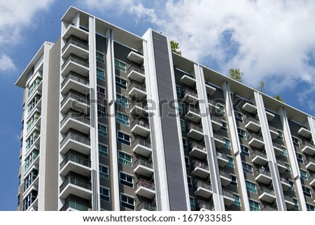 New building condominium - stock photo