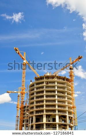 new building construction - stock photo