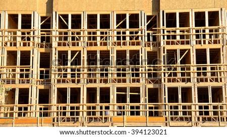 New building construction exterior at Georgia, USA. - stock photo