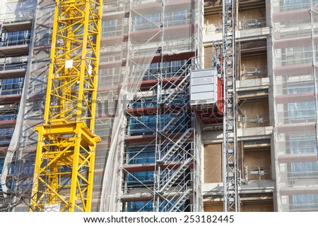 new building in construction - stock photo