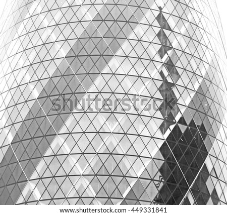 new building in london skyscraper          financial district and window - stock photo
