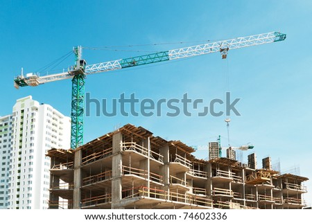 New building is under construction - stock photo