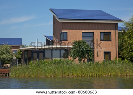New building with solar panels