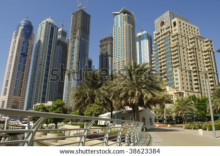 new built Dubai central marina