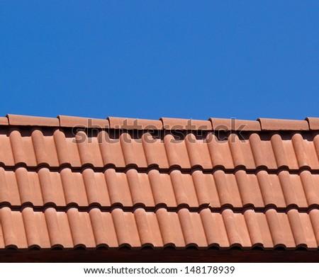 New bulgarian tile roof - stock photo