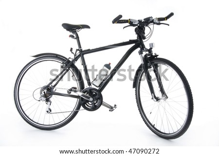 New bull's - eye bicycle on white background.