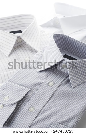 new business shirts on white background - stock photo